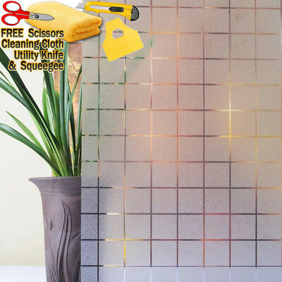"""48/"""" x 72/"""" Frosted Glass Film Static Cling Office Bathroom Window Tint 4ft x 6ft"""