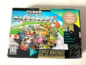 SUPER-MARIO-KART-Super-Nintendo-RARE-AUTHENTIC-Players-Choice-Box-ONLY
