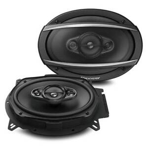 New-Pioneer-TS-A6960F-450-Watts-6-034-x-9-034-4-Way-Coaxial-Car-Audio-Speakers-6x9-034