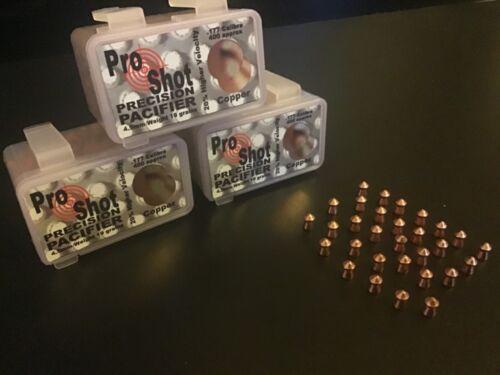 Pro Shot Pacifier Rame Pellet Precision Qtà 400 .177//4.5 mm GRATIS P/&P