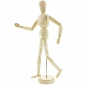 """Ikea 13/"""" Jointed Mannequin Sketch Wooden Figure Pose-able Drawing"""