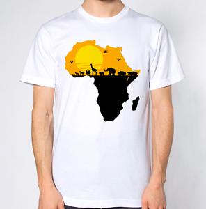 Africa Wild Life Map T-Shirt