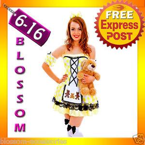 G60-Ladies-Goldilocks-Fairy-Tale-Storybook-Fancy-Dress-Halloween-Costume-Outfit