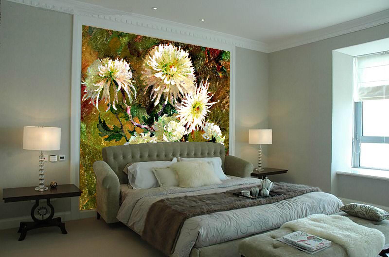 3D Chrysantheme Ölgemälde 73 Tapete Wandgemälde Tapete Tapeten Bild Familie DE