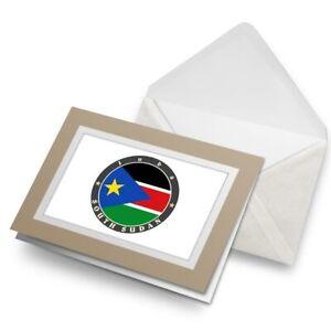 Greetings-Card-Biege-South-Sudan-Juba-Flag-Travel-5192