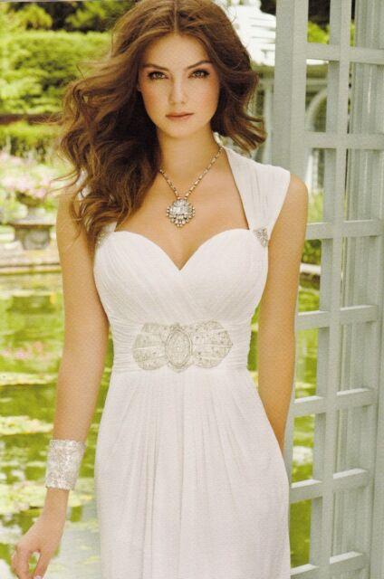 Destination Ivory Chiffon Empire Waist Sweetheart Wedding Gown Sz 12 ...