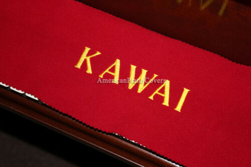 Kawai Piano Key Cover Red Felt Embroidered Keyboard Cover