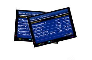 2x-OO-HO-Gauge-Model-Railway-Large-Arrival-Departure-Display-Screens
