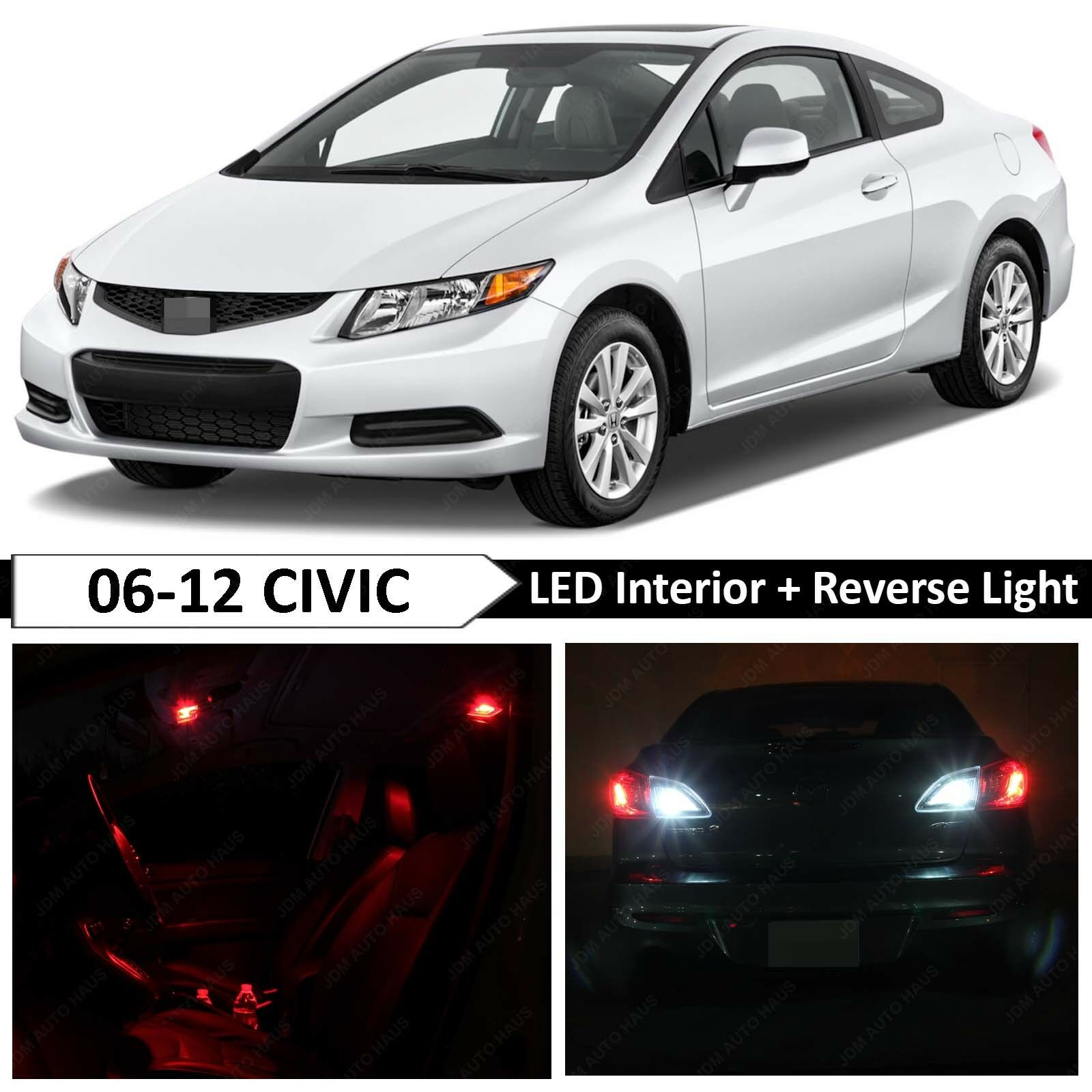 10x Blue Interior Led Lights Replacement Package Kit Fit: 10x Red Interior Reverse LED Light Package Kit Fit 2006