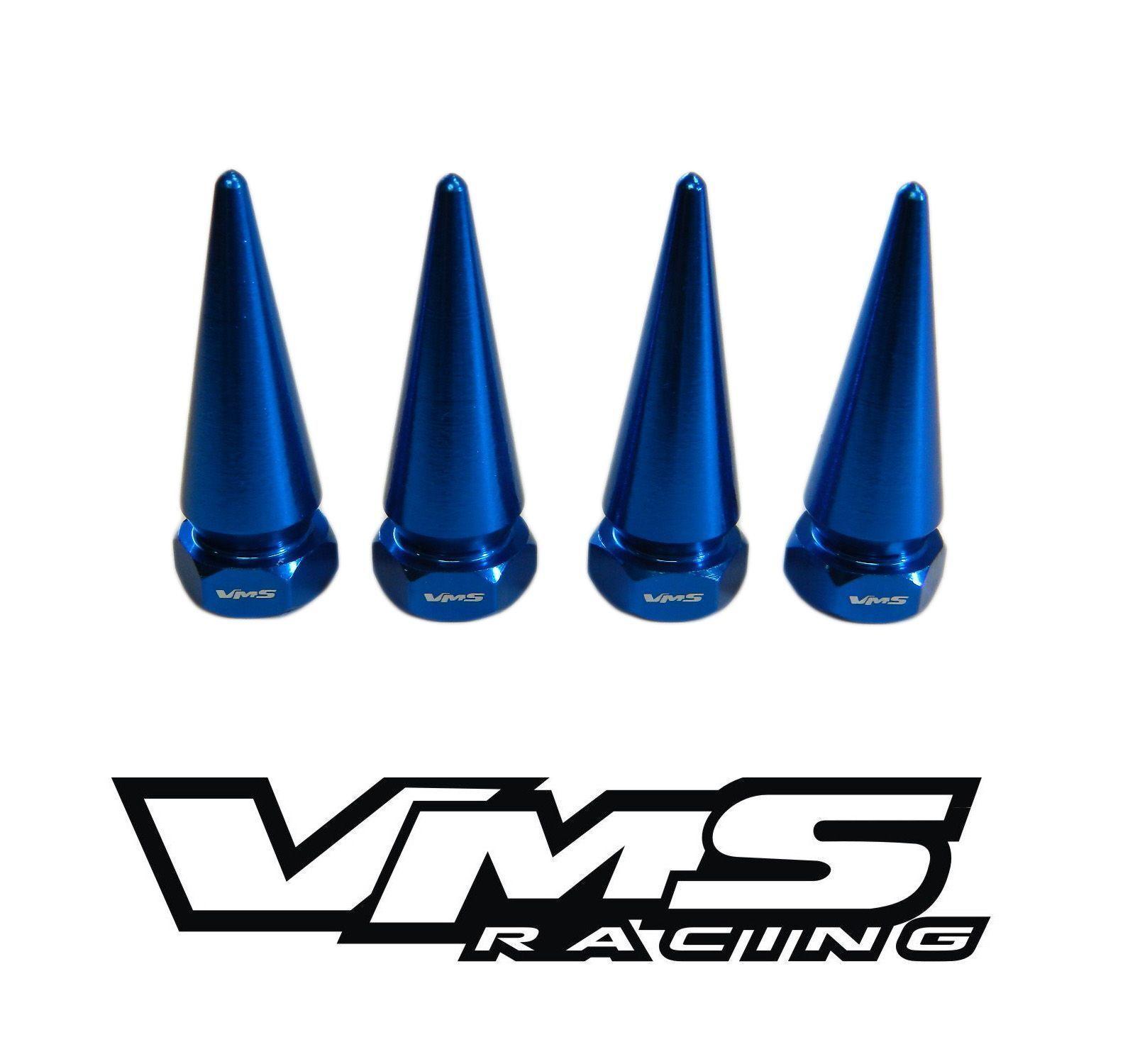 VMS BILLET ALUMINUM BLACK B16 B18 VTEC VALVE COVER STD SPIKE NUTS BOLTS 8 PCS