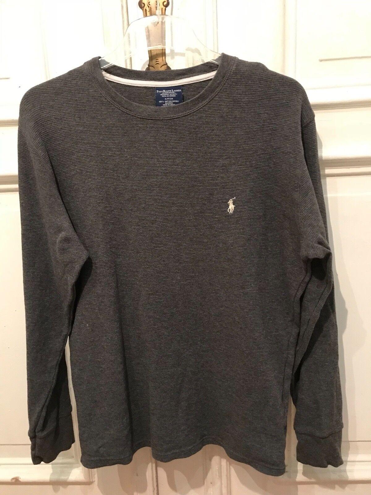 Polo Ralph Lauren Sweatshirt Langarmshirt Shirt Gr. S grau 100% Baumwolle