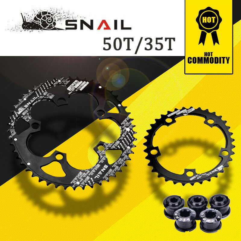 SNAIL Road Fahrrad Chainring 110BCD 50T 35T Oval Double Disc Fit Sram Shimano FSA