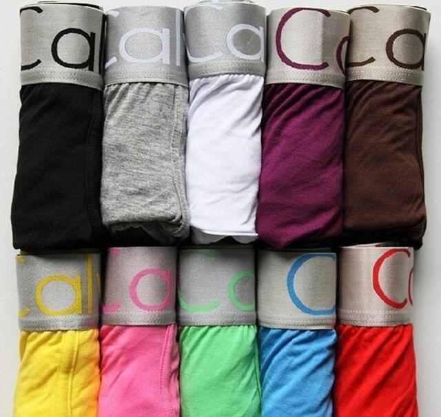 5-10PCS Men's Sexy Cotton Underwear Boxer Briefs Underpants Size M-XXL Set