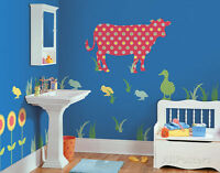 Nursery Zoo Jungle Safari Animals Kid Room Sticker Boy Girl Wall Decoration