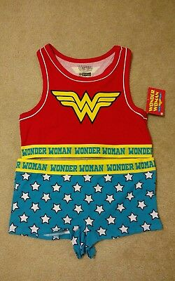DC Comics Wonder Woman Bralette XL (16-18) Red/Blue with matching Boyshorts New!