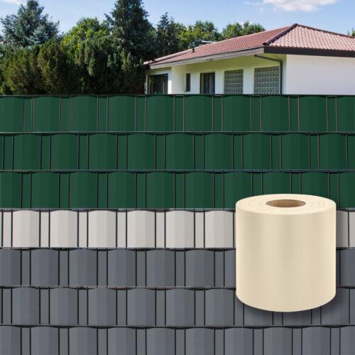 Sichtschutz Rolle Zaunfolie Streifen Zaun Garten 35m PVC CREME 923211