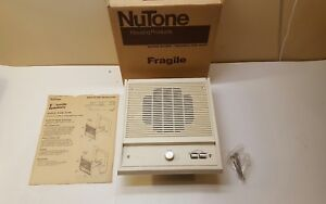 Nutone-IS-208L-Indoor-8-034-Intercom-Speaker-Use-With-IM-2003-Adobe-White-NEW-NOS
