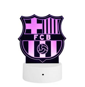 Barcelona Fc Acrylic 3d Led Soccer Lamp 16 Colors Led Base Remote Usa Messi Ebay