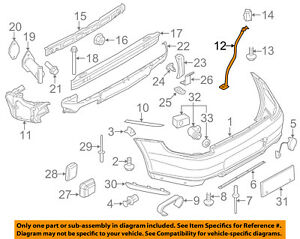 PORSCHE OEM 12-18 911 Rear Bumper-Emblem Badge Nameplate 99155924301