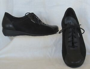 MEPHISTO-MOBILS-Black-Suede-amp-Leather-Sneaker-Shoe-Size-8