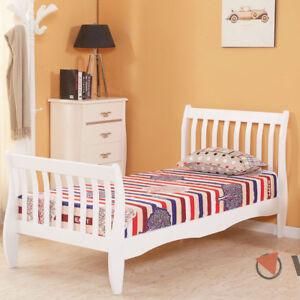 3ft single wooden sleigh bed frame pine bedroom furniture - Childrens pine bedroom furniture ...