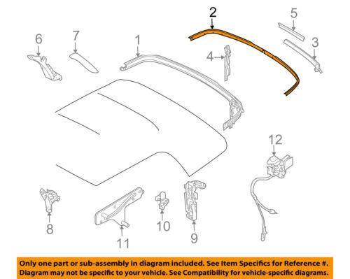 MINI OEM 09-15 Cooper Convertible Top-Molding Trim Right 54347375320