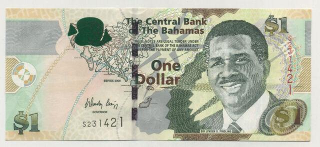 Bahamas 1 Dollar 2008 Pick 71 UNC UNCIRCULATED Banknote