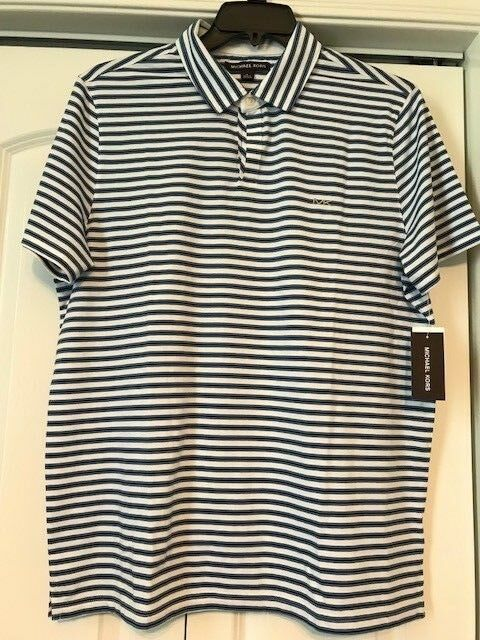 727a413a Michael Kors Men's Polo Shirt Blue/white Stripes Size XL for sale ...