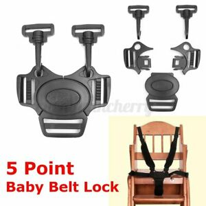 5-Point-Baby-Safe-Belt-Lock-Stroller-Pram-Strap-Infant-Harness-Buckle-Chair-CN