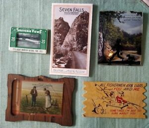 Vintage-Colorado-Souvenirs-Lot-of-5-Advertising-Silhouette-Brochure-Pics
