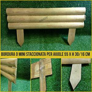 Bordura per aiuole in legno mini staccionata steccato for Bordure aiuole offerte