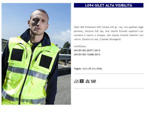 VEST MAN 3COLO HIGH VISIBILITY ROAD 'S ASSISTANT IN THEATRE L094 GP ITALIA