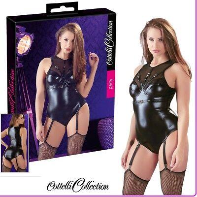 2019 Nuovo Stile Body Aderente Wetlock Nero Con Reggicalze Cottelli Sexy Lingerie Fetish Erotic