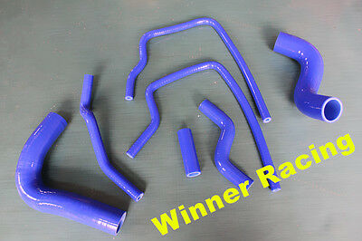 blue silicone radiator heater hose for Subaru Forester SF5 EJ20 Turbo 1998-2002