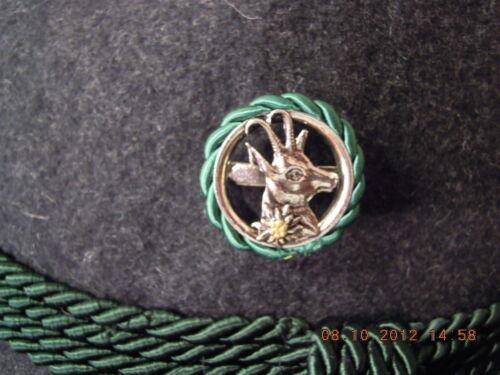 Gamskof mit Edelweiß Anstecknadel Hutanstecker Hutnadel