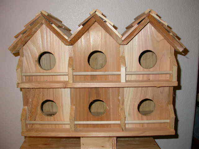 Wood 6 Room Deluxe lila Martin Bird House (Cedar) FREE SHIPPING