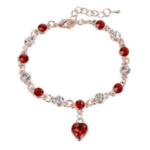 Elegant-Women-Ocean-Heart-Blue-Crystal-Rhinestone-Bangle-Bracelet-Jewlery-New