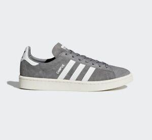 watch d0383 bcad3 La imagen se está cargando Sneakers-BZ0085-Zapatillas-Adidas-Campus-Gris -y-Blanco-