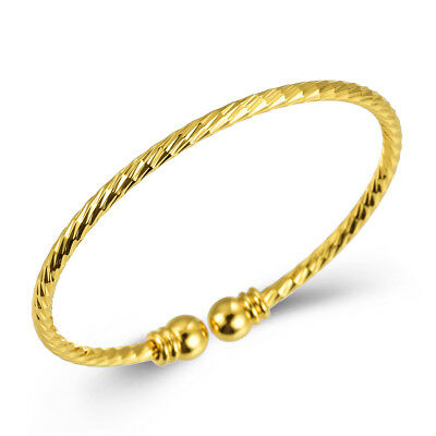 18k Cold Plated Bangle Cuff Bracelet