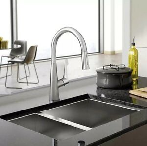 Hansgrohe Talis M Pull Down Kitchen Faucet In Steel Optik Nib Ship
