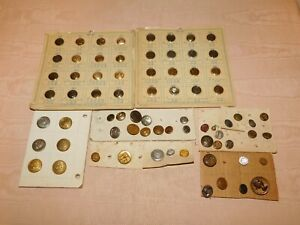 VINTAGE LARGE OLD MILITARY HERALDICS BUTTONS LOT