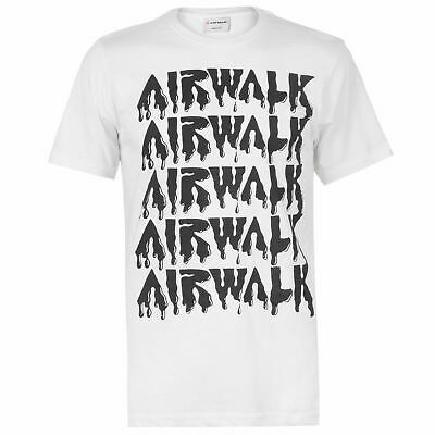 Airwalk Da Uomo Drip Logo T-shirt Girocollo Tee Top Manica Corta Regular Fit Stampa-mostra Il Titolo Originale