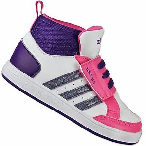 Image is loading Adidas-NEO-Hoops-Mid-CMF-Kids-Shoes-Baby-