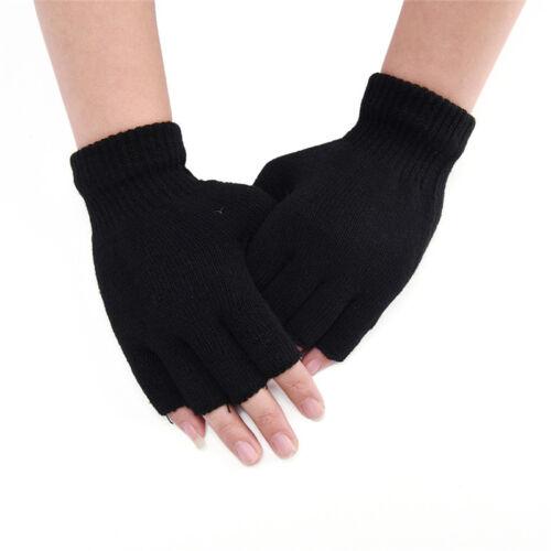 Gestrickte Stretch Elastic Warm Half Finger Fingerlose HandschuhRSDE