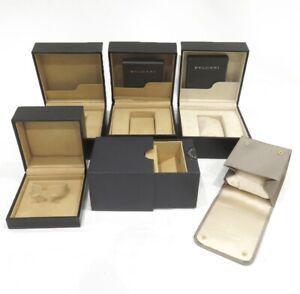BVLGARI-Watch-Box-genuine-Empty-Case-Authentic-6set-travel-pouch-0531001PA62