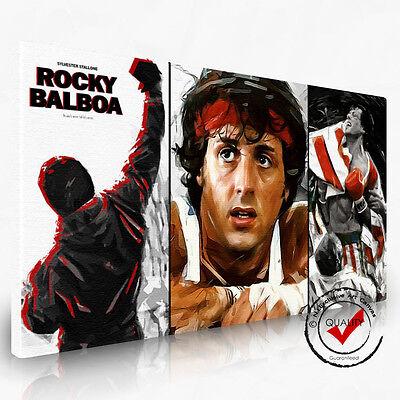 Gemälde Leinwand,Bilder,Wandbild,Film,Kunstdruck Dig Rocky Balboa,Bild Pop Art