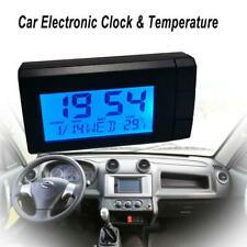 Smandy Auto LCD digitales Clip Thermometer Uhr Digital LED Auto Uhr Thermomet...