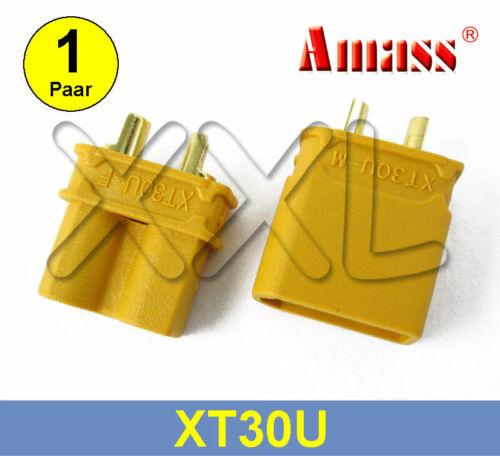 1 Paar AMASS XT30U Goldkontakte Stecker Buchsen Gold Goldstecker Kontakte XT30