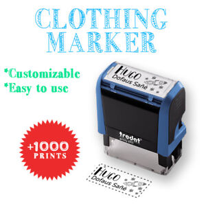 Image Is Loading Clothing Stamp Personalized With Your Name 12 DESIGNS