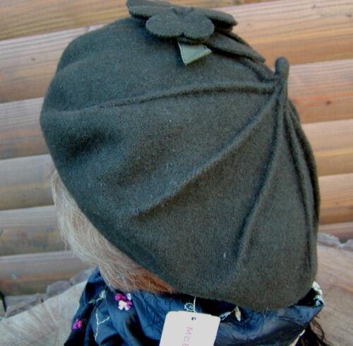 Damen Mütze Baskenmütze Mc Burn Lodengrün Elegant Hut Herbst Wolle Winter